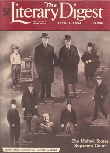 Literary Digest 4/7/1934-US Supreme Court Justices cover-historic pix-info-FN