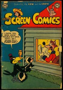 Real Screen Comics #48 1952- Fox and Crow Funny Animals DC FAIR