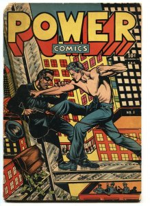 Power Comics #1 1944 L.B. Cole cover-RARE Golden-Age