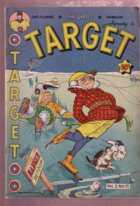 TARGET VOL 3 #11 1943- THE CADET-CHEMELEON-DOUBLE COVER VF