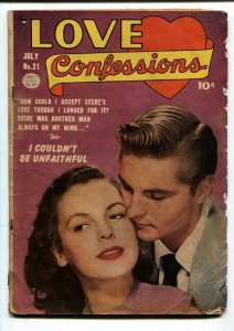 Love Confessions #21 comic book 1952- Golden Age Romance-Too Tall To Be Popular