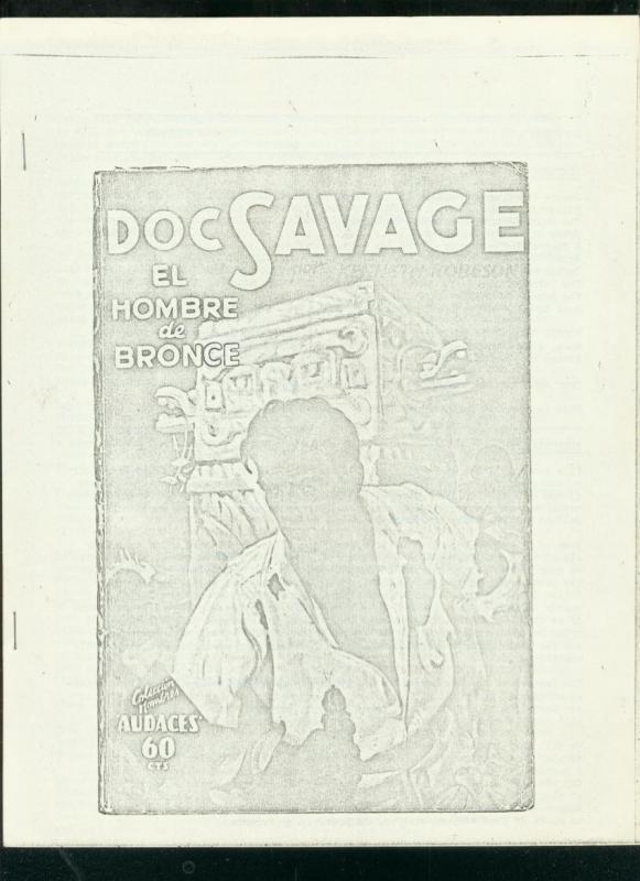 BRONZE SHADOWS #15 1968-PULP FANZINE-DOC SAVAGE-F COOK VG
