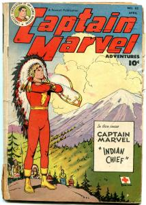 Captain Marvel Adventures #83 1948- Indian Chief cover- Golden Age