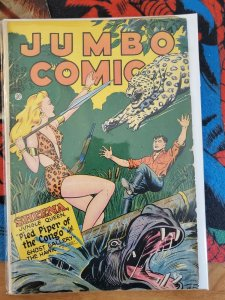 JUMBO COMICS #92, FICTION HOUSE, GD/VG Sheena/Sky Girl (1946)