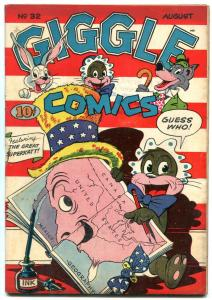 GIGGLE COMICS #32 1946-FUNNY ANIMAL-PATRIOTIC COVER ISS FN-