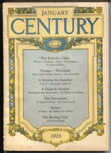 Century Illustrated Monthly Magazine 1/1926-historic pulp thrills-VG/FN