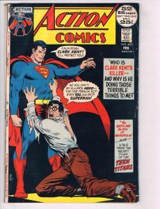 Action Comics # 409 GD DC Comic Book Feat. Superman Supergirl Superboy Flash J76