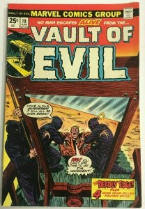 VAULT OF EVIL#18 FN/VF 1975 MARVEL BRONZE AGE COMICS