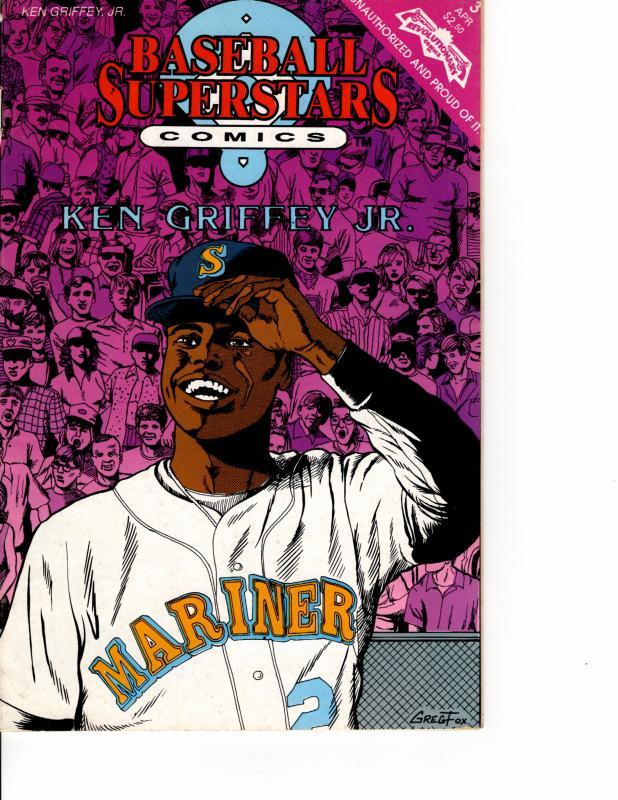 Baseball Superstars Comics Ken Griffey Jr. #3 (1992 Series) APR 1992