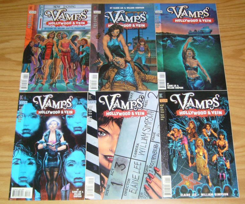 Vamps: Hollywood & Vein #1-6 VF/NM complete series elaine lee bad girl vampires