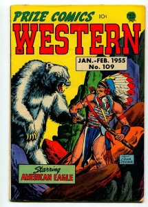 PRIZE COMICS WESTERN #109 1955-JOHN SEVERIN-AL WILLIAMSON-VG/FN
