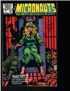 Micronauts #54 (Marvel, 1983)
