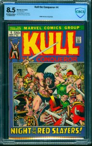 Kull the Conqueror #4 CBCS VF+ 8.5 Off White to White