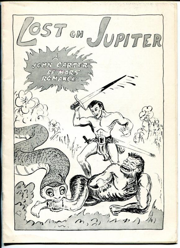 Lost on Jupiter 1960's-ERB-John Carter-Burroughs Bulletin-Gilmour-126 of 250-VF