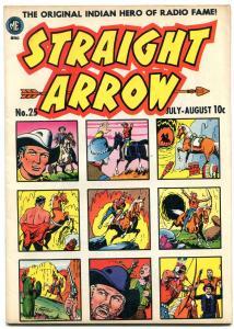 Straight Arrow #25 1952- Golden Age Western- Ghost of Hiawatha VF