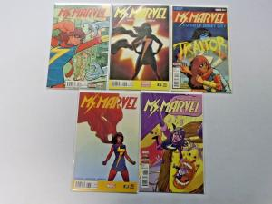 Ms Marvel lot 5 different books Fourth 4th Series 8.0 VF (2015)