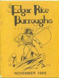 Edgar Rice Burroughs News Dateline #20 11/1985-Tarzan & ERB info-FN