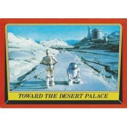 1983 Topps RETURN OF THE JEDI - TOWARD THE DESERT PALACE #11