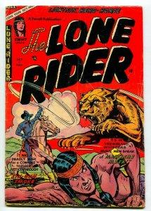 LONE RIDER #22 1954-WILD ANIMAL ATTACK COVER-VG