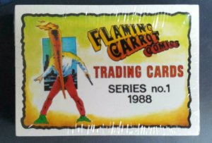 FLAMING CARROT Card Set, NM, compete, 1988, Bob Burden, 40 Trading cards