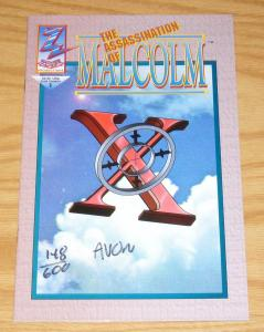 the Assassination of Malcolm X #1 VF/NM signed & numbered by artist (148 of 600)