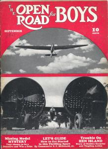 Open Road For Boys 9/1941-mystery pulp fiction-aviation-thrills-VG