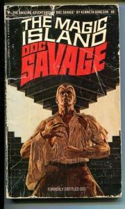 DOC SAVAGE-THEMAGIC ISLAND-#89-ROBESON-G-BOB LARKIN COVER-1ST EDITION G