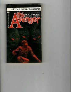 3 Books The Avenger The Devil's Horns Homebodies Angel Unaware Western JK26