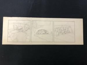 Unpublished Joe Palooka --Original Comic Strip Art -Pencils Only
