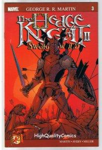 HEDGE KNIGHT SWORN SWORD #3, George R R Martin, NM+, 2007, Mike Miller