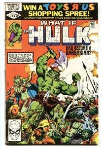 What If #23 comic book Barbarian HULK-Marvel Comic