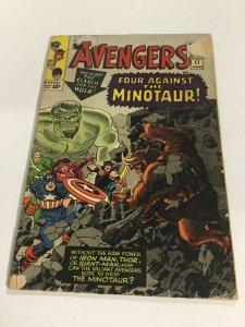 Avengers 17 Gd- Good- 1.8 Marvel Comics Silver Age