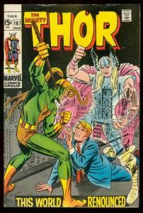 THOR #167 1969 MARVEL COMICS LOKI JACK KIRBY ROMITA ART FN-