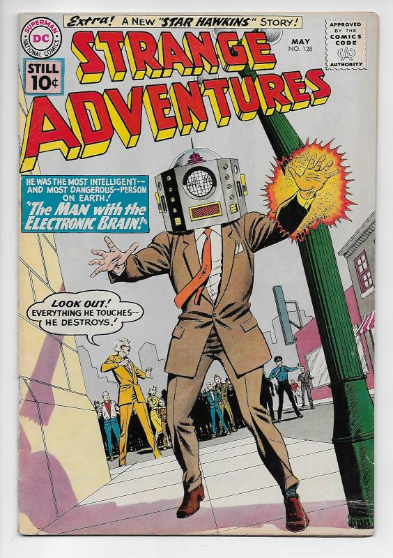 Strange Adventures #128 - The Man With The Electronic Brain! (DC, 1961) - VG/FN