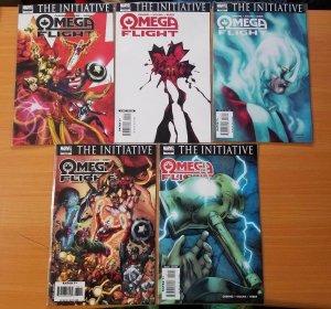 Omega Flight 1-5 Complete Set Run! ~ NEAR MINT NM ~ 2006 Marvel Comics