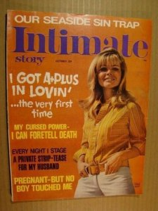 INTIMATE STORY - OCTOBER 1969 *NICE COPY* VINTAGE RACY STUFF - SEX