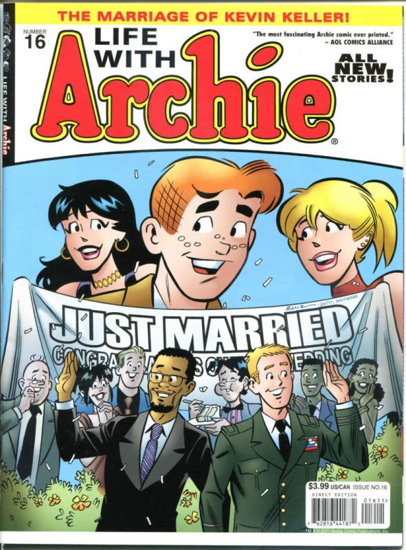 LIFE with ARCHIE MAGAZINE #16, VF/NM, Kevin Keller weds man, Marriage, 2012