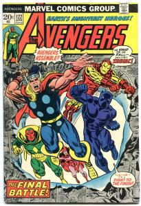 AVENGERS #122-BLACK PANTHER COVER-Thor-captain america-1974 FN