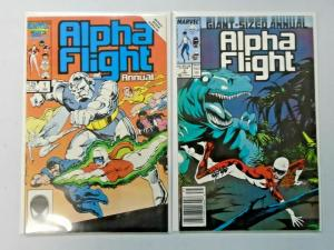 Alpha Flight Annual set #1 to #2 all 2 different books 8.0 VF (1986)