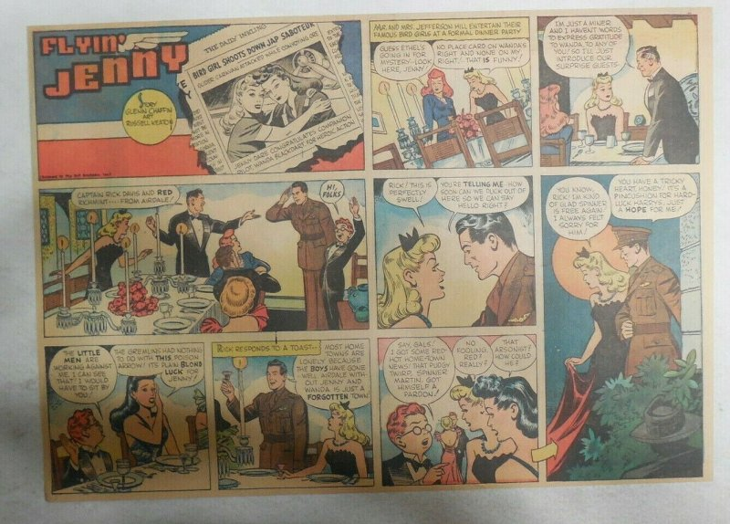 Flying Jenny Sunday Page by Russell Keaton from 4/18/1943 Size: 11 x 15 inches
