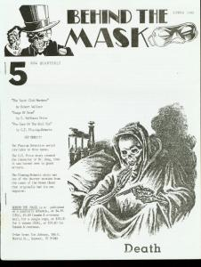 BEHIND THE MASK 1990 #5-PULP FANZINE-GREEN GHOST FN