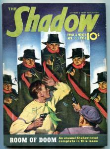 SHADOW APRIL 1 1942-ROOM OF DOOM CLASSIC ROZEN COVER VF+