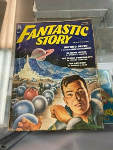 Fantastic Story Magazine Fall 1951 Pulp   Alex Schomburg Cover