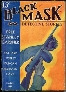 Black Mask-3/1937-hard boiled detective pulp-Gardner-Cave-Torrey-VG