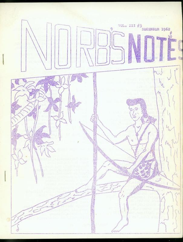 Norb's Notes Fanzine #30 1962-COMIC & PULP HERO FANZINE-Burroughs- FN