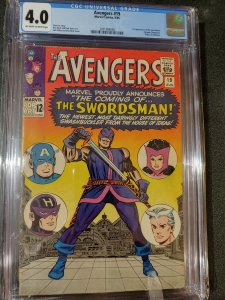 THE AVENGERS #19 CGC 4.0 1ST APPEARANCE OF THE SWORDSMAN