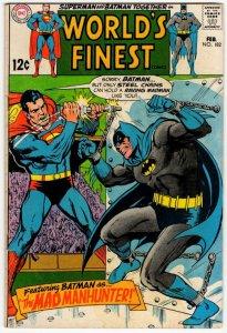 WORLD'S FINEST #182 (NG) Superman Batman Silver Age DC