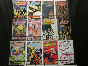 LEGION OF SUPER HEROES (1989) 26-36 Terra Mossaic compl