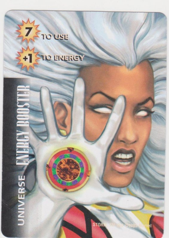 1995 Marvel Overpower Card Game Energy Booster