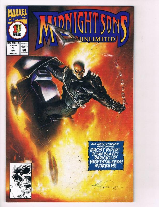 Midnight Sons Unlimited # 1 Marvel Comic Books Ghost Rider